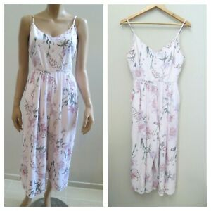 FOREVER NEW Petite Pink Floral Culotte Jumpsuit sz 10 S FREE POST  .F21