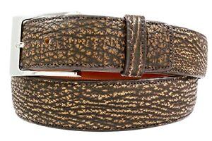 Genuine Handmade Safari Brown Shark Leather Belt (Made in U.S.A)