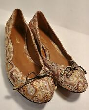 Missoni Multi-Colored Fabric Leather Bow Tie Ballet Flats Women's US 8/ EUR 38,5