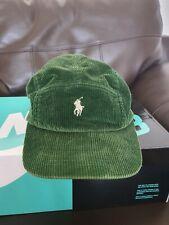 Ralph Lauren Corduroy Cap Green 5 Panel Camp Cap Jacket Polo Sport Hat Shorts M