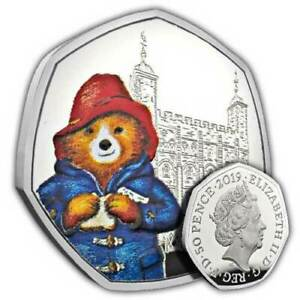 NEW Paddington at the Tower 2019 UK 50p Fifty Pence Silver Proof Coin Royal Mint