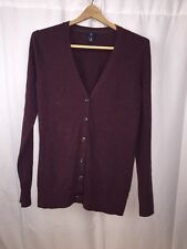 GAP Men's Maroon Luxuriously Soft 100% Cashmere Button Down Cardigan Medium