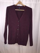 GAP Men's Maroon Luxuriously Soft 100% Cashmere Button Down Cardigan Medium