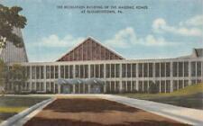 Elizabethtown, Pa Pennsylvania Masonic Homes Recreation Bldg c1940's Postcard