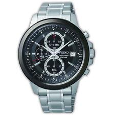 Seiko Neo SKS451P1 Black Dial Chronograph Bracelet Watch Silver Stainless Steel
