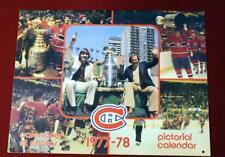 Vintage 1977 Montreal Canadiens Hockey Calendar !