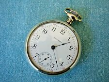 1913 Waltham 18s, M1883, Pocket Watch About Mint! Serviced, Sterling Grade, 15J