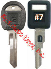NEW GM Single Sided VATS Ignition Key #7 + Doors/Trunk OEM Key  - MADE IN USA