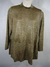 Say What? Women's Longsleeve Mock Neck Blouse (Zipper Back)- Size 3X
