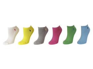 Polo Ralph Lauren Ladies 6-Pack Classic Cotton Sport Socks Shoe Size 4-10.5