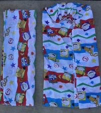 VINTAGE RUGRATS TWIN FLAT & FITTED SHEETS 1997 NICKELODEON CARTOON BEDDING