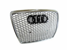 RS6 Style Honeycomb Iron Gray Front Grille for Audi A6 S6 C6 facelift 2008-2011