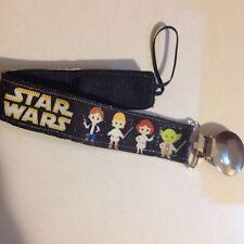 Baby Boy Girl Pacifier Clip Holder Ribbon Star Wars Yoda Han Solo Luke Skywalker