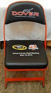RARE Race Used NASCAR Pit Driver Crew Chief Meeting Padded Chair DOVER 2016 Dale
