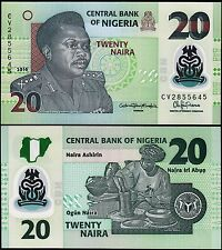 NIGERIA 20 NAIRA 2016, UNC, 20 PCS LOT, CONSECUTIVE, P-NEW, POLYMER