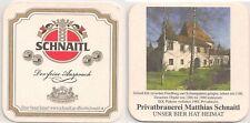 """Schnaitl Bier, Gundertshausen - alter Bierdeckel """"Schloß Erb"""""""
