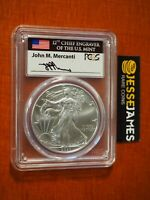 2020 (P) SILVER EAGLE PCGS MS70 MERCANTI STRUCK AT PHILADELPHIA FIRST DAY ISSUE
