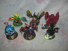 Skylanders Spyro's Adventure Set-Red Drill Sergeant, Hex, Legendary Trigger +
