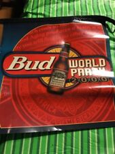Budweiser Banners Pennant 3 Different Flags 7 Strung Together 2000 World Party