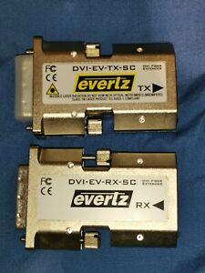 DVI fiber-optic extender Evertz Microsystems single & multi-mode fiber HDMI SC