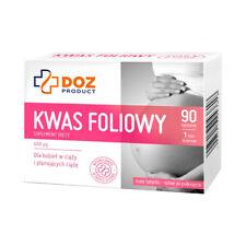 Kwas Foliowy 90 tabletek dla kobiet planujących ciążę - DOZ Product Poland