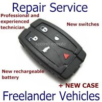 Land Rover Freelander 2 Key Fix Car Remote Fob Repair / Recase / New Battery