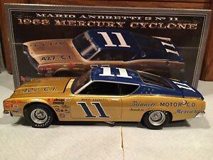 Autographed University of Racing 1968 Mario Andretti #11 Mercury Cyclone 1/24