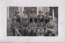 WW1 Officers ASC Army Service Corps in Italy & Pet Dogs