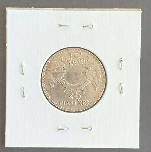 Lebanon 1929 25 Piastres Silver Coin - Rare UNC, grading should be good