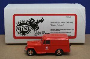 Brooklin US Model Mint US-8 1949 Willys Panel Pennsylvania RR 1:43 Red Mint Box