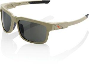 100% Type-S Sunglasses - Soft Tact Quicksand - Grey PEAKPOLAR Lens