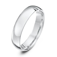 *NEW* 9ct White Gold Court Wedding Ring 2,3,4,5,6mm Comfort Fit Wedding Band