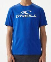 O'NEILL MENS T SHIRT.NEW ORGANIC COTTON BLUE SHORT SLEEVED CREW TEE TOP 8W 34 51