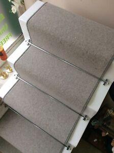 13 Steps Grey Fleck stair runner 60cm x 6.25m 80/20 Wool