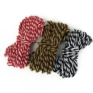 10M CHRISTMAS BAKERS TWINE COTTON STRING GIFT WRAP TAGS PRESENTS DECORATIONS