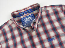rl749 SUPERDRY camisa top ORIGINAL Cuadros Premium New York con botones s&d