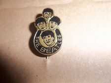 THE BEATLES BLACK LAPEL BADGE - PIN - BROOCH FROM HOLLAND  ORIGINAL FROM 1964