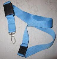 Unbedrucktes blaues Schlüsselband Lanyard NEU (T132)
