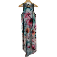 Wayne Cooper Womens Dress Size 12 Multicolored Floral Sleeveless High Low