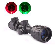 Hunting Guns 2-6x32 AOEG Red Green Mil-dot Sight Rifle Scope+ Sunshade Scopes