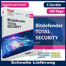 ✔️Bitdefender Total Security 2021✔️5 Geräte (PC)✔️6 Monate✔️180 Tage✔️