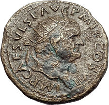 VESPASIAN 76AD Rome FELICITAS Luck Goddess Authentic Ancient Roman Coin i57906