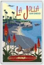LA JOLLA - JUMBO FRIDGE MAGNET - BEACH SAN DIEGO CALIFORNIA UNITED STATES SURF