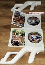 Wii Cabela's Big Game Hunter 2010 2012 +2 Zapper/gun Complete Lot/bundle RVL-023