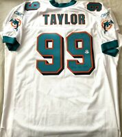 Jason Taylor autographed signed Dolphins Reebok game model jersey 2006 DPOY BAS