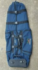 """Mizuno """"Colonial"""" logo, wheeled padded golf bag carrier/protector great cond."""