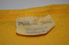 Michael Stars American Retro Sparkle Yellow Sling Wrap Club S Tank TopVTG 80s