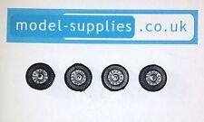 Corgi 267 Batmobile Reproduction Set Black Plastic Road Wheels Silver Centres