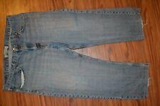 WRANGLER mens Blue Jeans Pants Denim Straight 40x30 40x27 actual AEKC