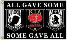 3x5 Pow Mia POWMIA KIA Wounded Warriors All Gave Some Some Gave All Flag 3'x5'
